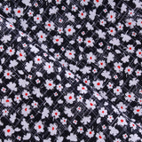 "Vintage Floral Checks Premium Printed Cotton, Approx. 44"" (112cm) Wide, 130GSM"