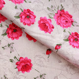 "Pinstripe Tulips Premium Printed Cotton, Approx 44"" (112cm) Wide"
