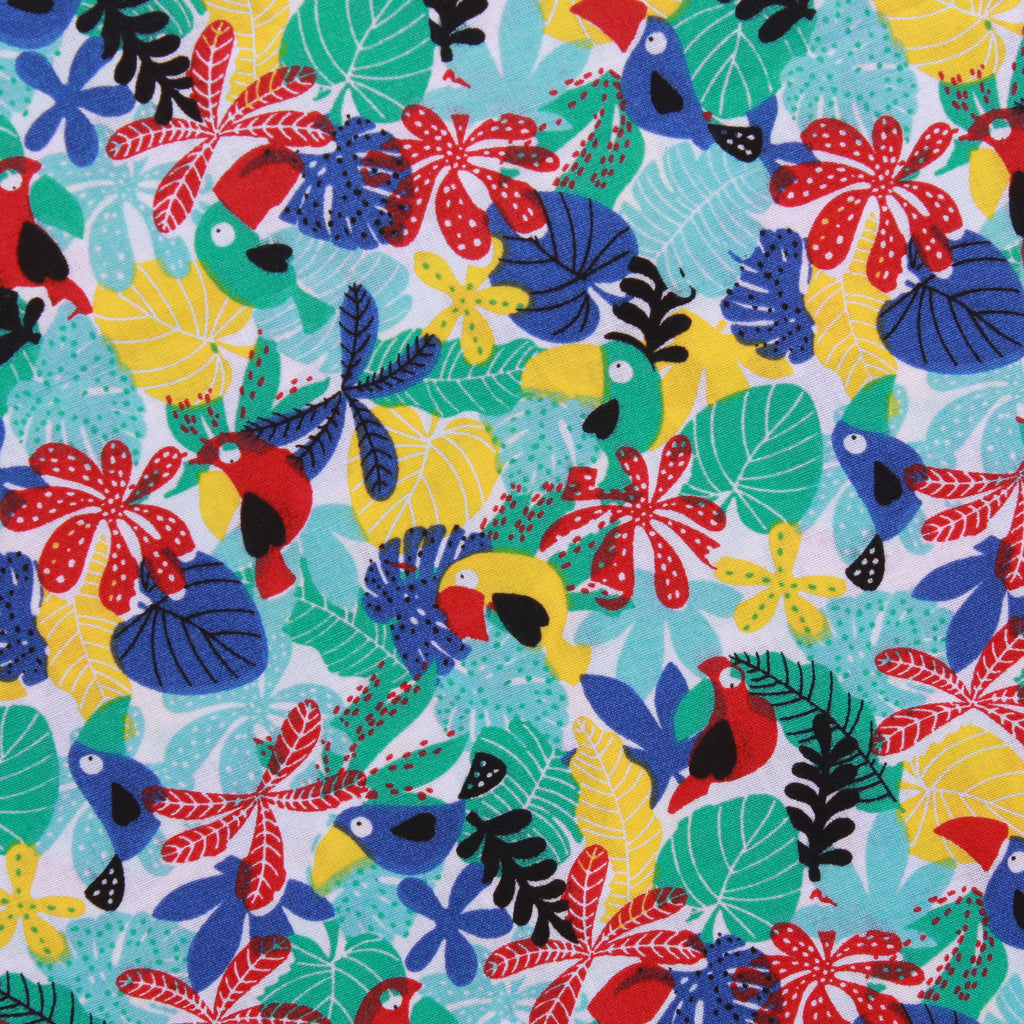 "Toucan Garden, 100% Printed Cotton, 63"" Wide"