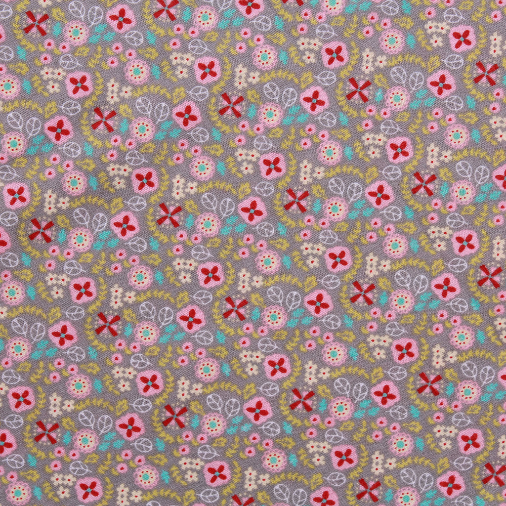 "Celtic Floral, 100% Printed Cotton, 63"" Wide"