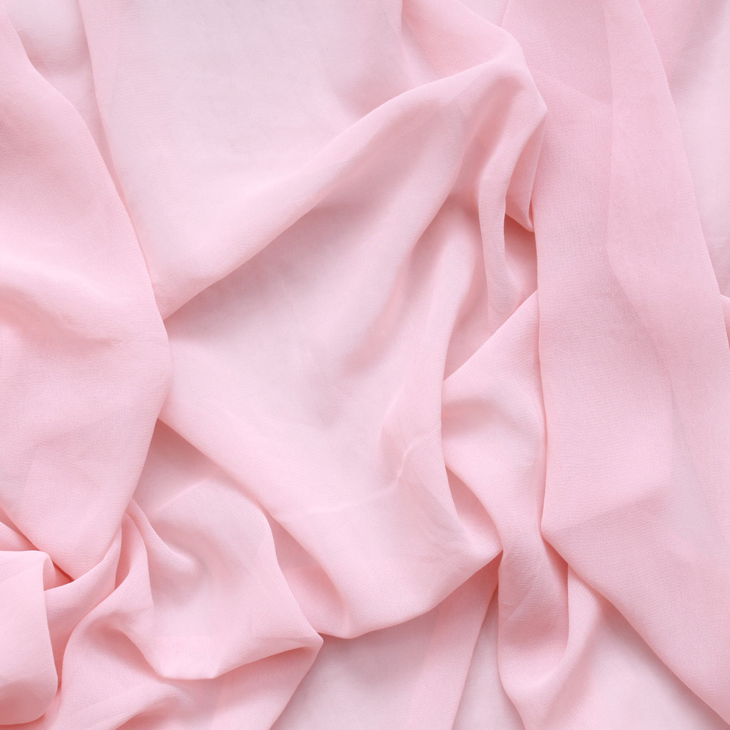 "Premium 100% Polyester Plain Georgette, Approx 60"" (150cm) Wide, Available In 15 Colours"