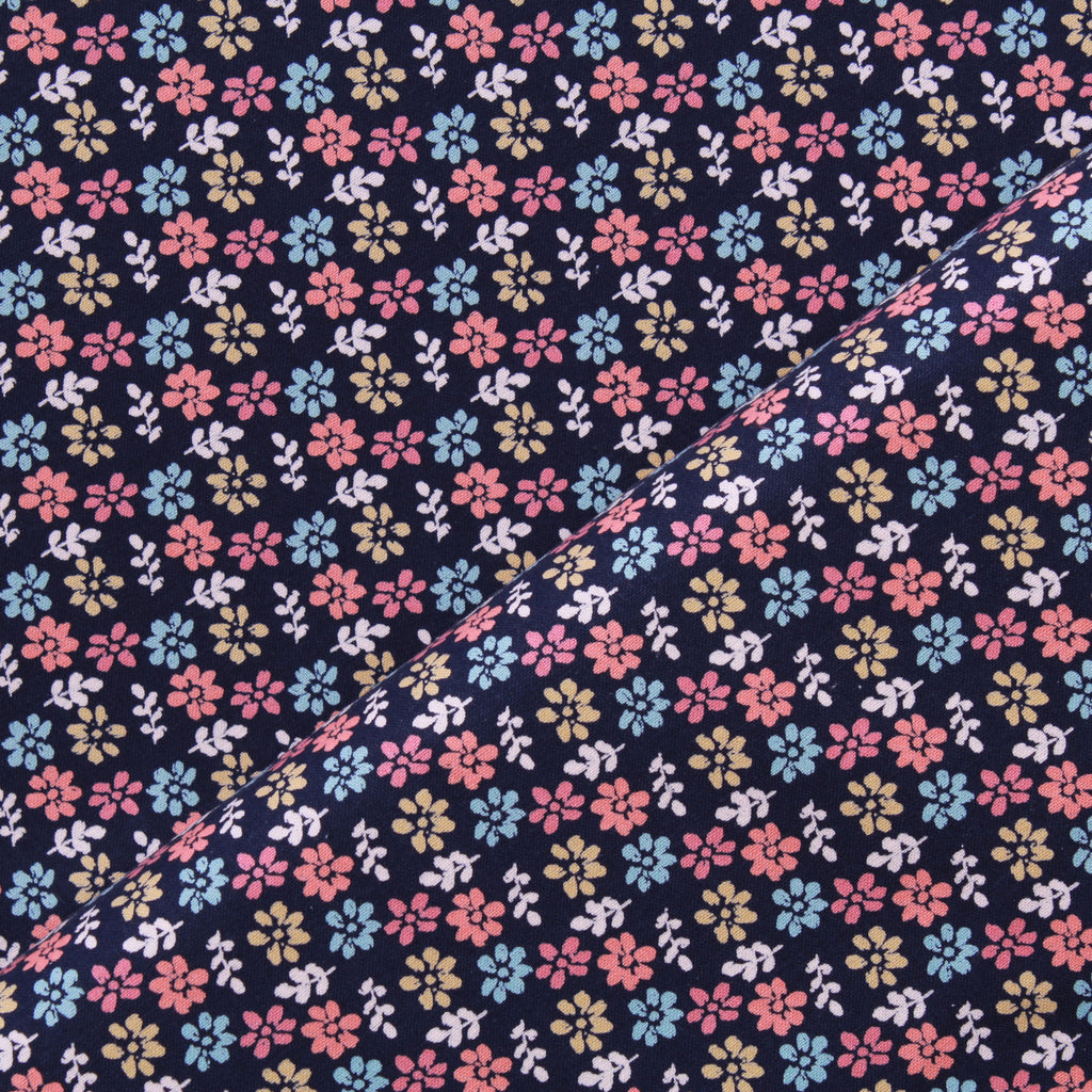 Multi Flowers, Daisy Charm Quilting Cotton Collection
