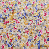 Lawn Cotton Variety, William Morris Floral Inspired, Yellow-Cream, FL315 Collection