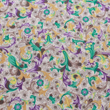 Lawn Cotton, William Morris Floral Inspired, Grey, FL315-2