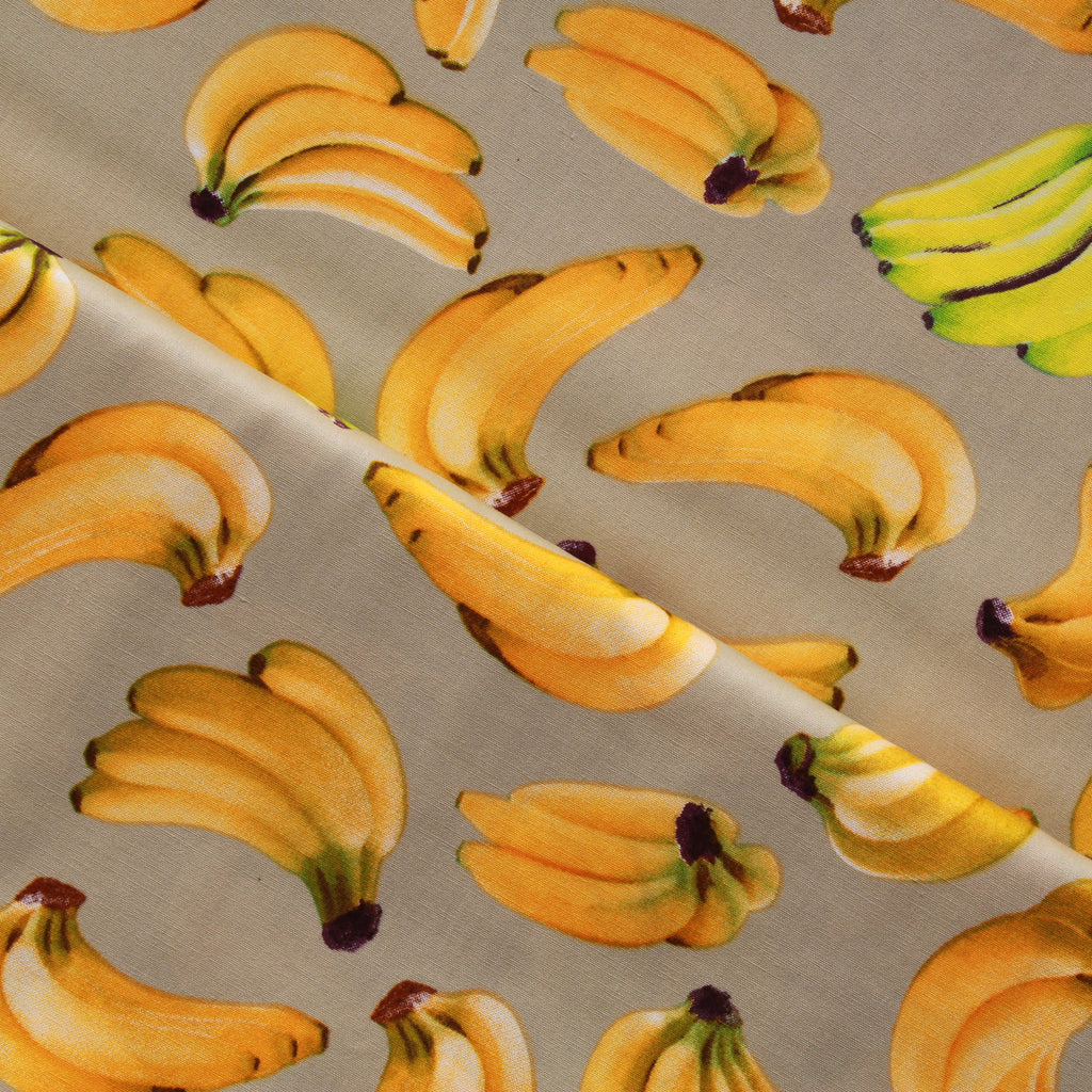"Bananas, 100% Cotton Printed Poplin, Approx. 44"" Wide (112cm)"