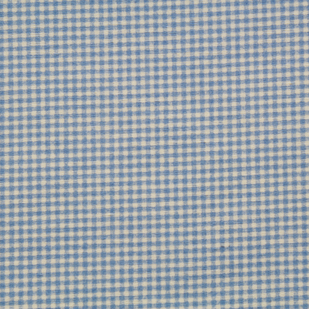 "Gingham Small Check Printed Poplin 44"" Wide (112cm)"
