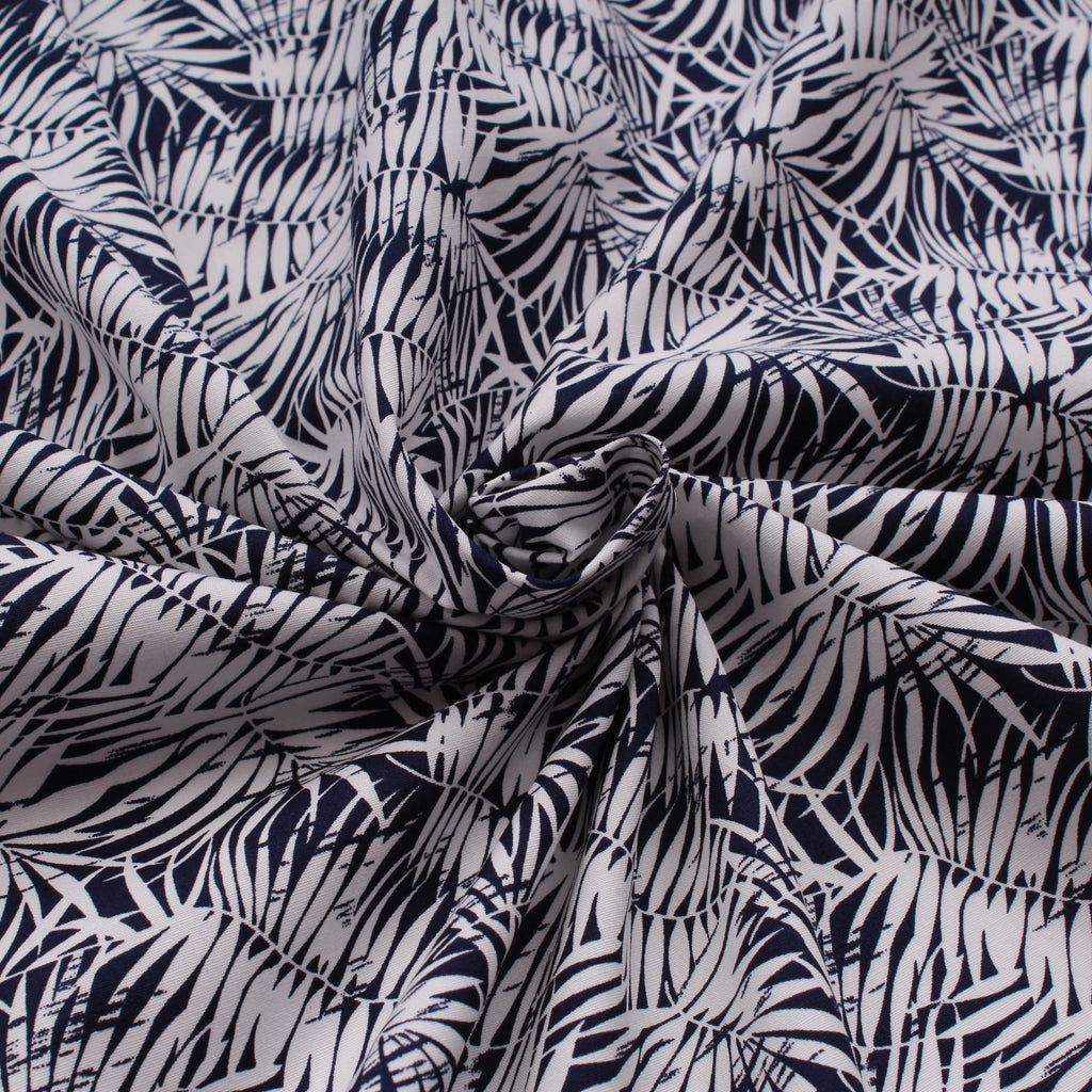 "Silhouette Leaves, 100% Printed Cotton Poplin, Approx. 44"" Wide (112cm)"