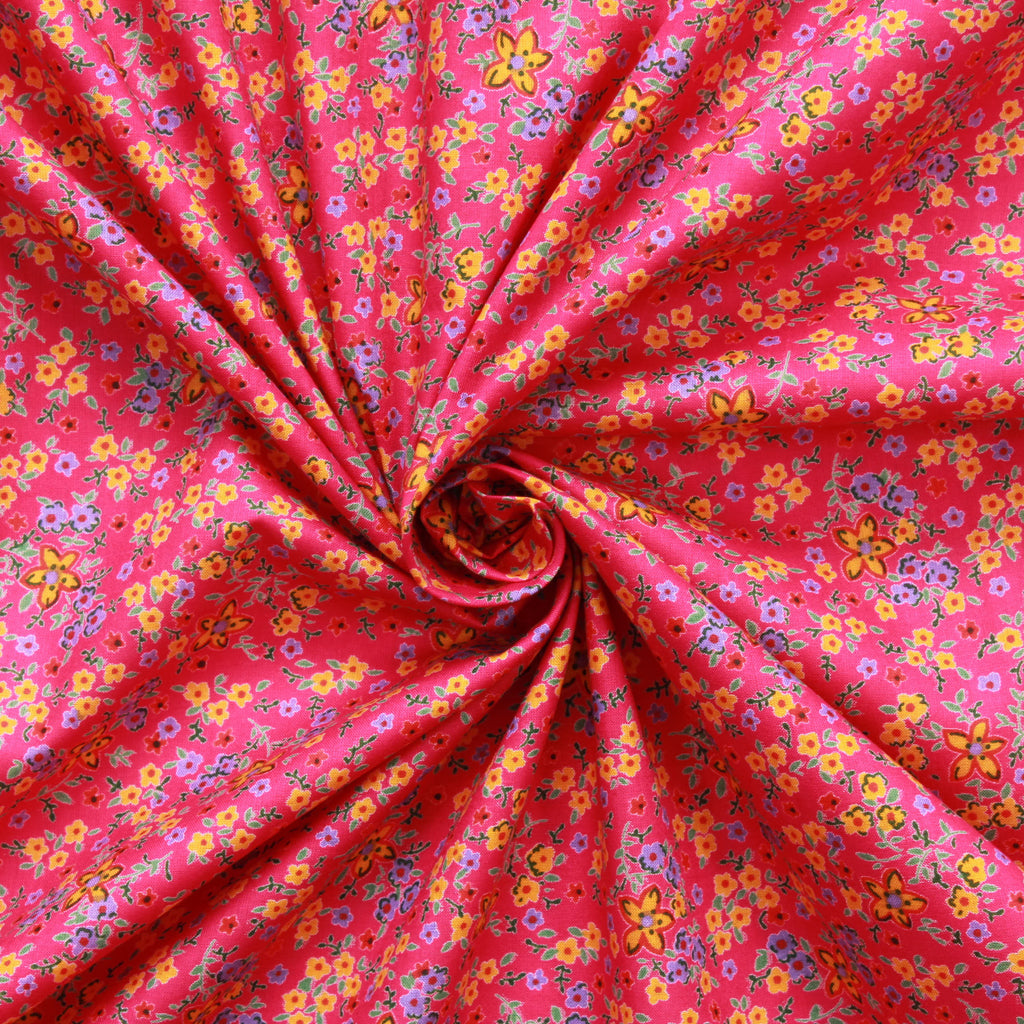 "100% Cotton Lawn,Flower Power, 44"" Wide"