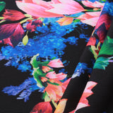 "Bright Floral, Scuba Water Proof Fabric, Approx. 60"" Wide"