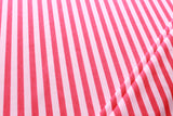 "Striped Scuba White & Bright Pink 60"" Wide"