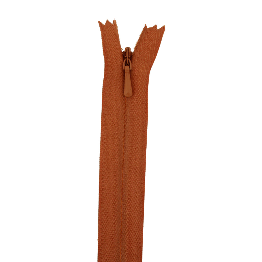 "20"" Concealed Rust Common Zipper"