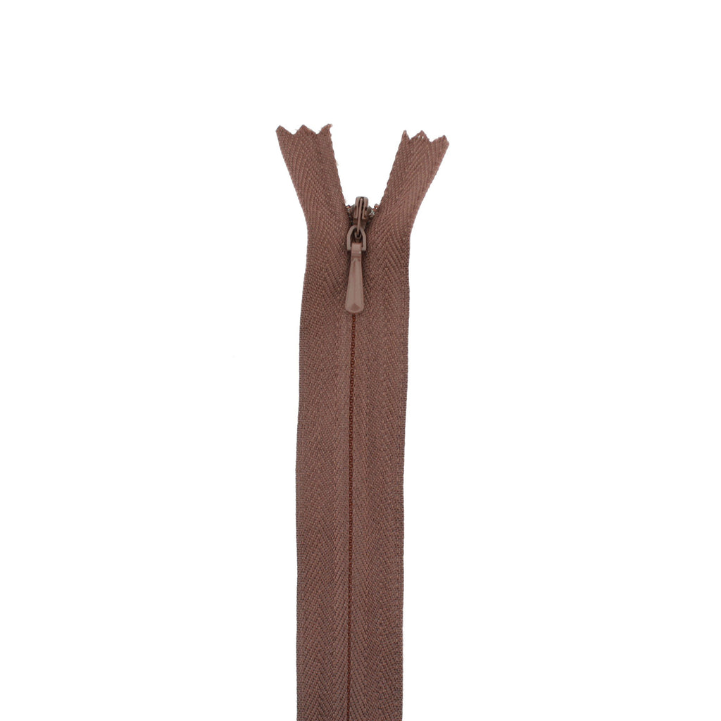 "8"" Concealed Brown Common Zipper"