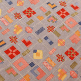 "Rayon Fabric, Geometric Drop, Foil Print, Spring/Summer, 44"" Wide"
