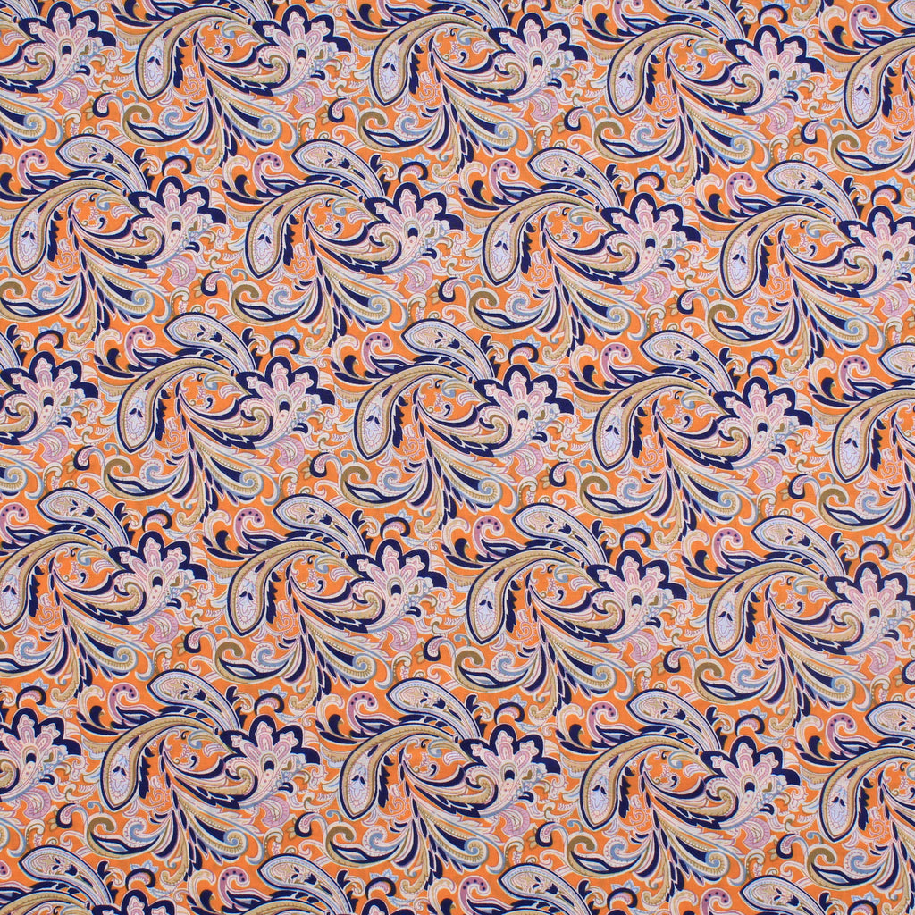 "Lawn Cotton, Pop Paisley Collection, Approx. 58"" (147cm) Wide"