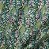 "100% Cotton Lawn, Tropical Leaves - 60"" Wide"
