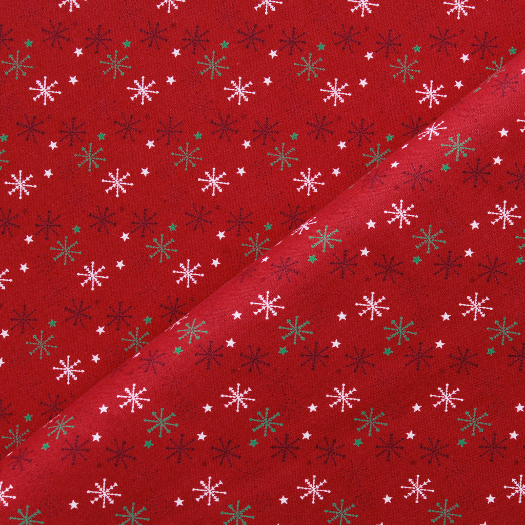 Sparkling Snowflakes, Winter Warmer Quilting Cotton Collection