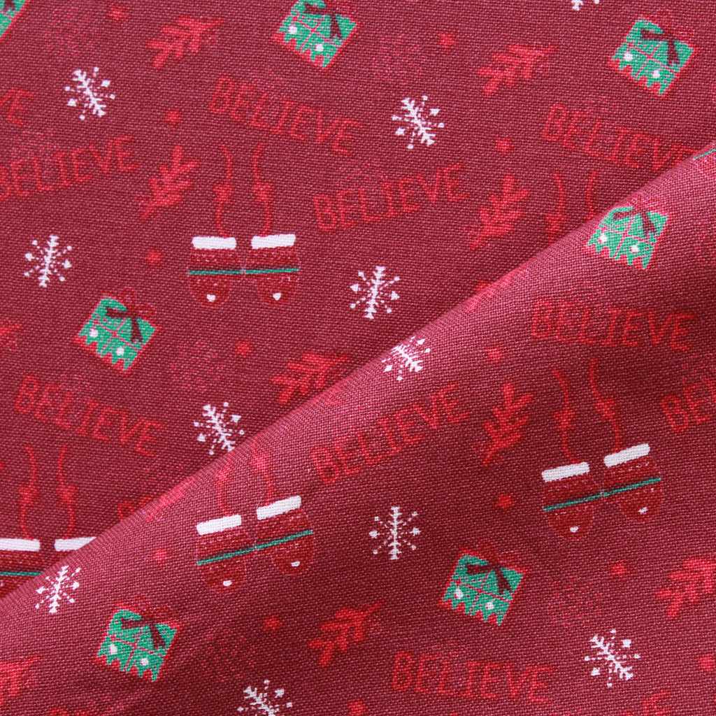 Believe Print, Winter Warmer Quilting Cotton Collection