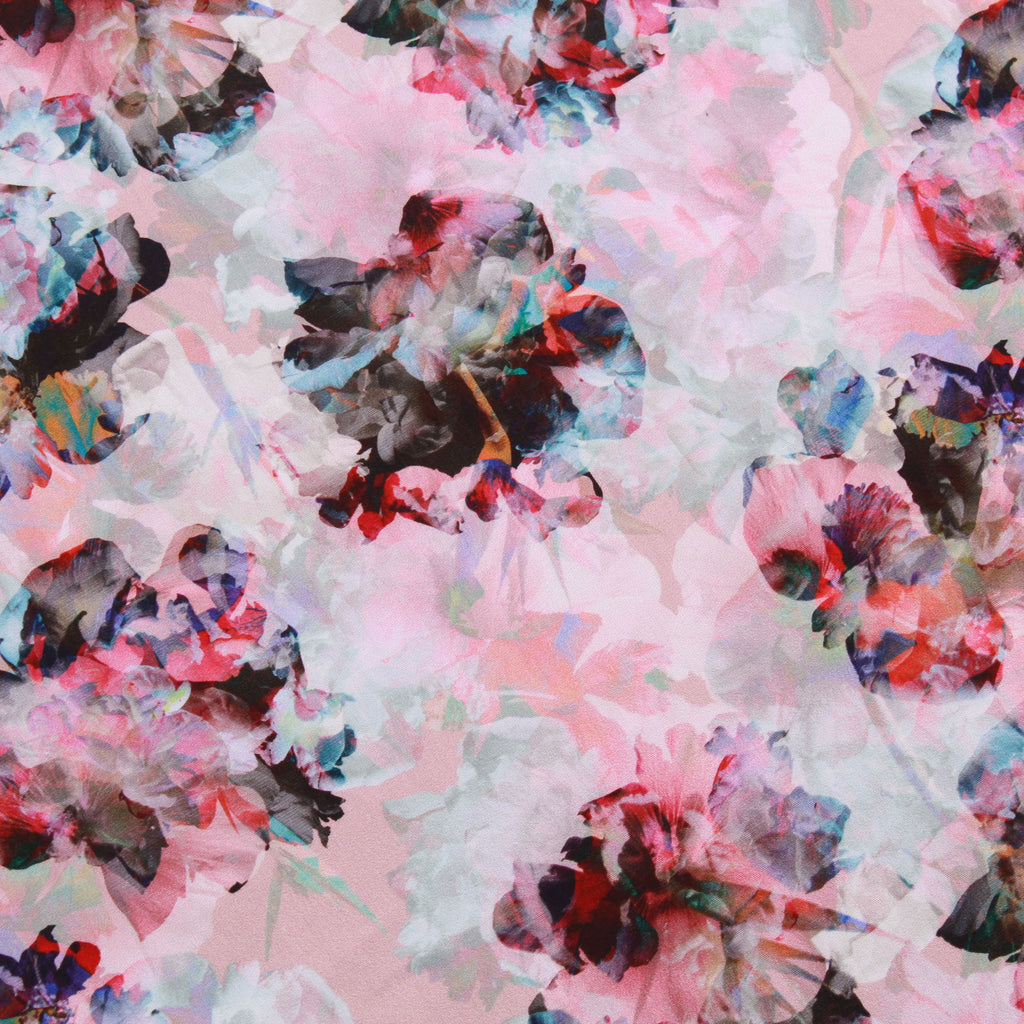 "Digital Print Cotton Floral On Grey 44"" Wide"