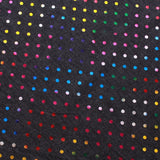 "Multicolour Polka Dots On Dark Grey Foil Printed Cotton Jersey, 95% Cotton 5% Spandex  Approx 60"" Wide (150cm)"