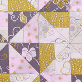"100% Cotton Lawn, Geometric Ditsy Floral, 58"" Wide"