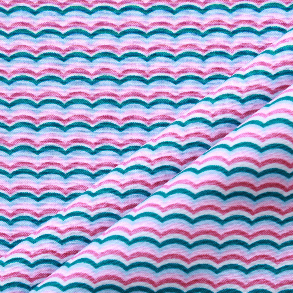 Coloured Waves, Splash Quilting Cotton Collection