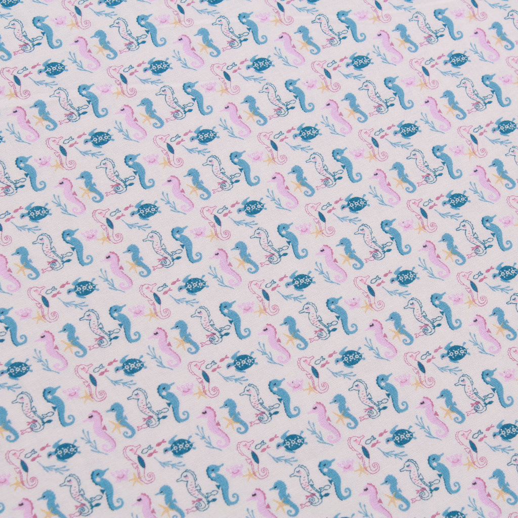 Seahorse Galore, Splash Quilting Cotton Collection