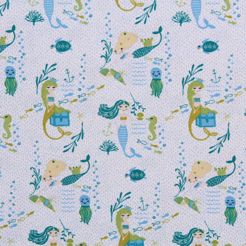 Mermaids & Sea Life, Splash Quilting Cotton Collection