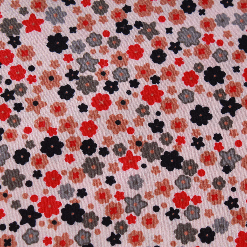 "Small Ditsy, 100% Cotton Printed Poplin, Approx. 44"" Wide (112cm)"