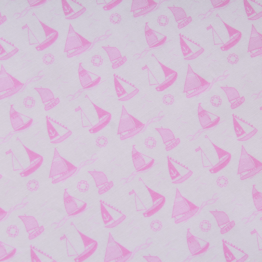 "Sail Boats, 100% Cotton Printed Poplin, Approx. 44"" Wide (112cm)"