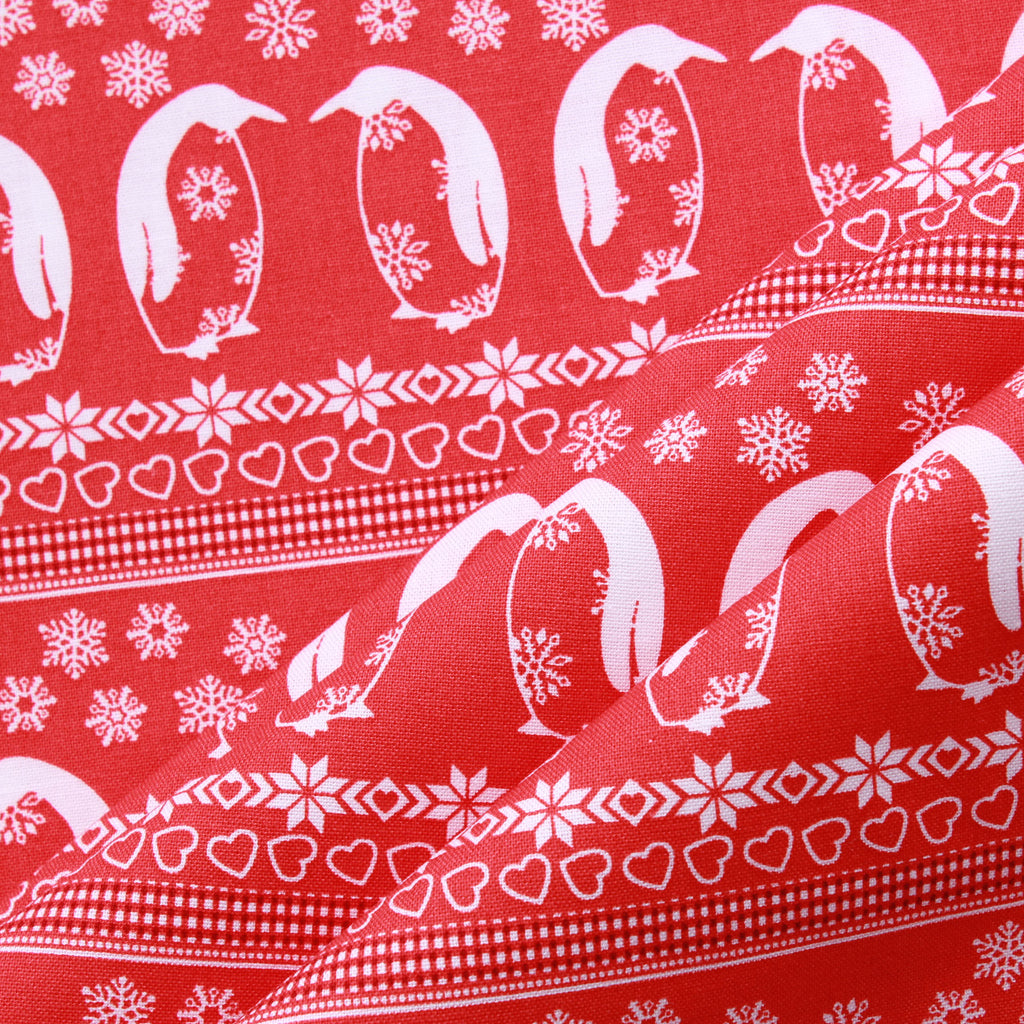 Penguin Party, Nordic Christmas Quilting Cotton Collection