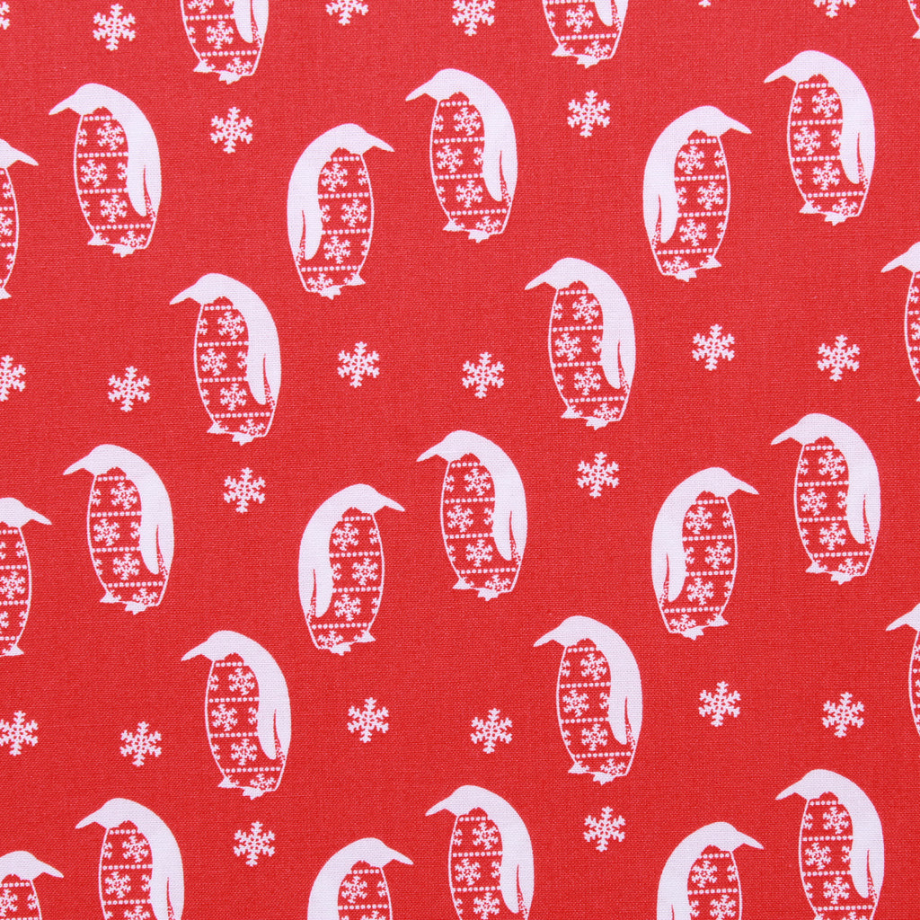 Festive Penguins, Nordic Christmas Quilting Cotton Collection