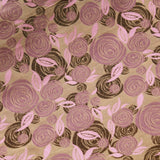 Shimmer Brocade Jacquard Abstract Rose Fabric Pink