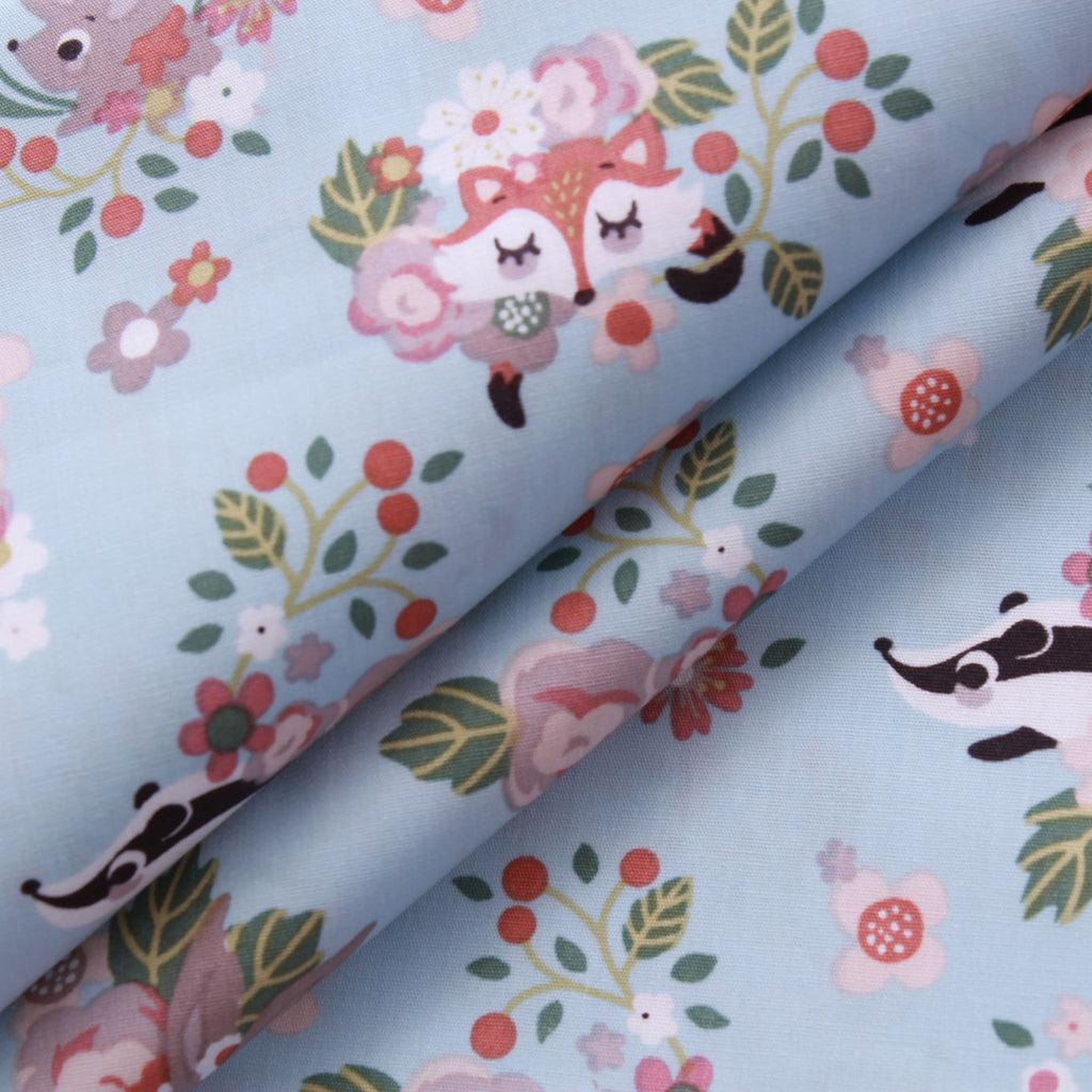 "Countryside Wildlife, 100% Printed Cotton, 63"" Wide"