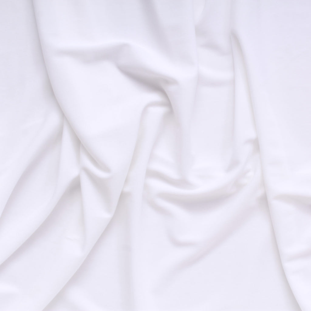 "Lightweight Knitted Plain Jersey White 60"" Wide"