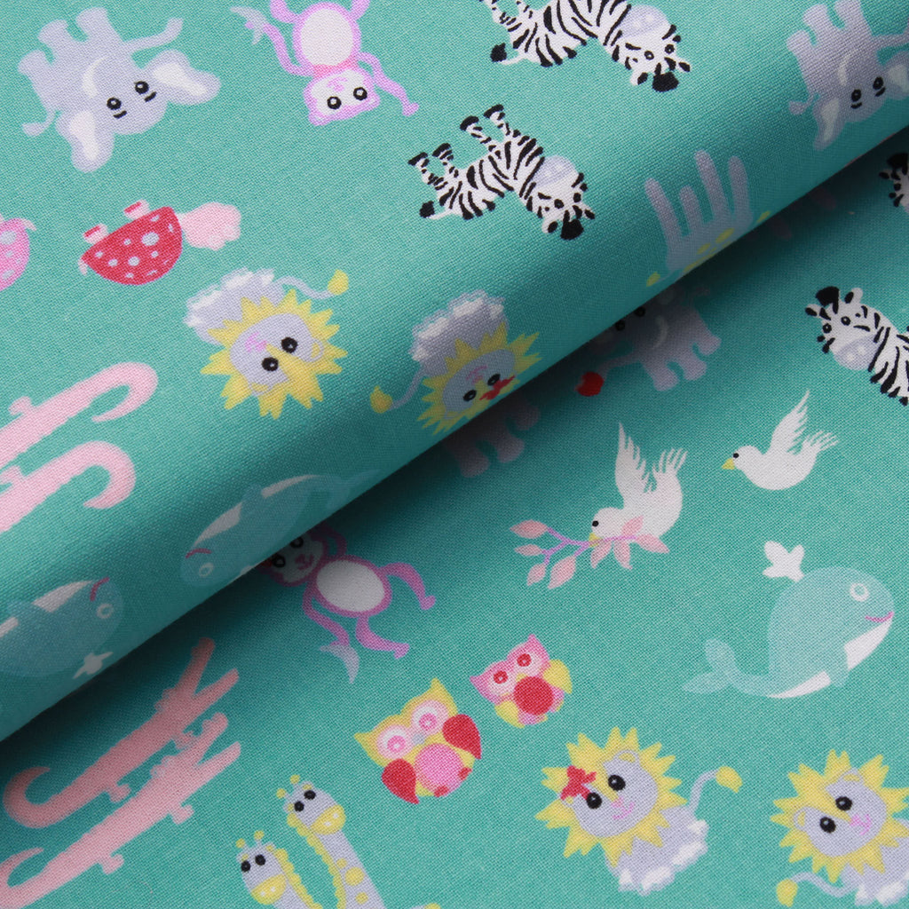 Animal Pairs, Noah's Ark Quilting Cotton Collection