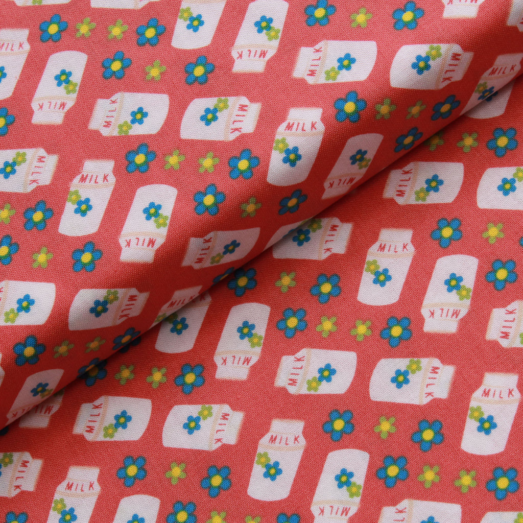 Milk & Flowers, Farmyard Quilting Cotton Collection