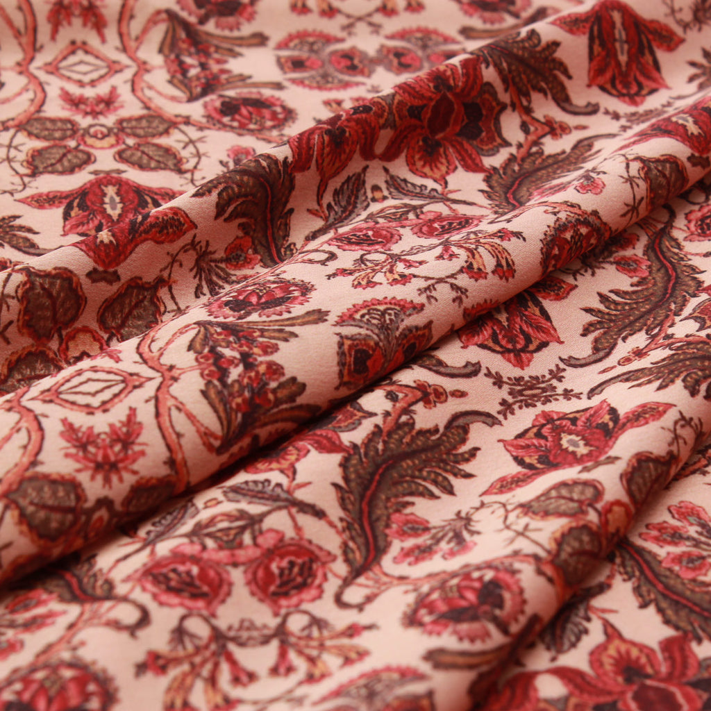 Floral 100% Polyester Digital Print Satin, Approx 147cm Wide
