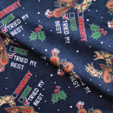 Christmas List Soft Print Brushed Cotton Navy