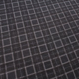 Tartan Blocks Soft Print Brushed Cotton Black