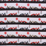 F1 Cars Themed Quilting Cotton, Zoom Collection, Blue