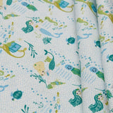 Mermaids Themed Quilting Cotton, Under the Sea Collection, Green, FF312.3