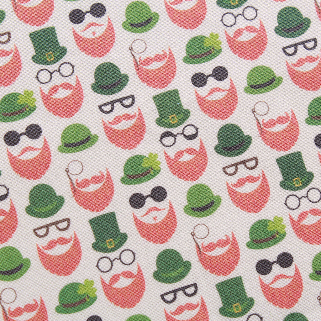 "Celtic Beard,St Patricks Day Quilting Cotton Collection, 100% Premium Quilting Cotton Fabric, 44"" Wide (111cm), 140GSM"