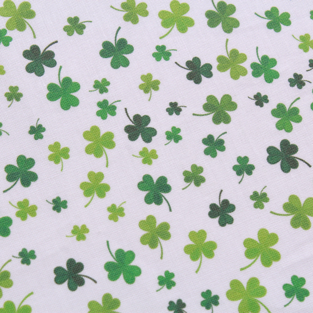 "Small Clover Splash,St Patricks Day Quilting Cotton Collection, 100% Premium Quilting Cotton Fabric, 44"" Wide (111cm), 140GSM"