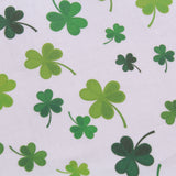 "Large Clover Splash,St Patricks Day Quilting Cotton Collection, 100% Premium Quilting Cotton Fabric, 44"" Wide (111cm), 140GSM"