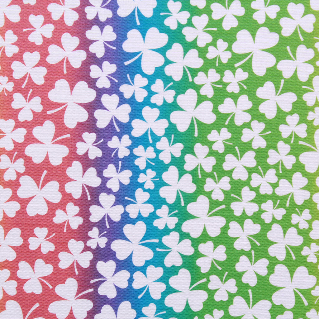 "Gradient Clovers Large,St Patricks Day Quilting Cotton Collection, 100% Premium Quilting Cotton Fabric, 44"" Wide (111cm), 140GSM"