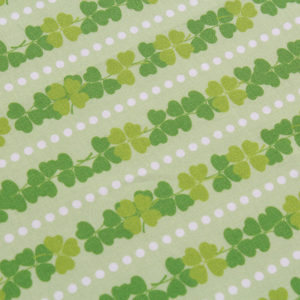 "Dots & Clovers,St Patricks Day Quilting Cotton Collection, 100% Premium Quilting Cotton Fabric, 44"" Wide (111cm), 140GSM"