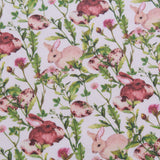 "Easter Bunny Garden, Eggtastic Easter Quilting Cotton Collection, 100% Premium Quilting Cotton Fabric, 44"" Wide (111cm), 140GSM"