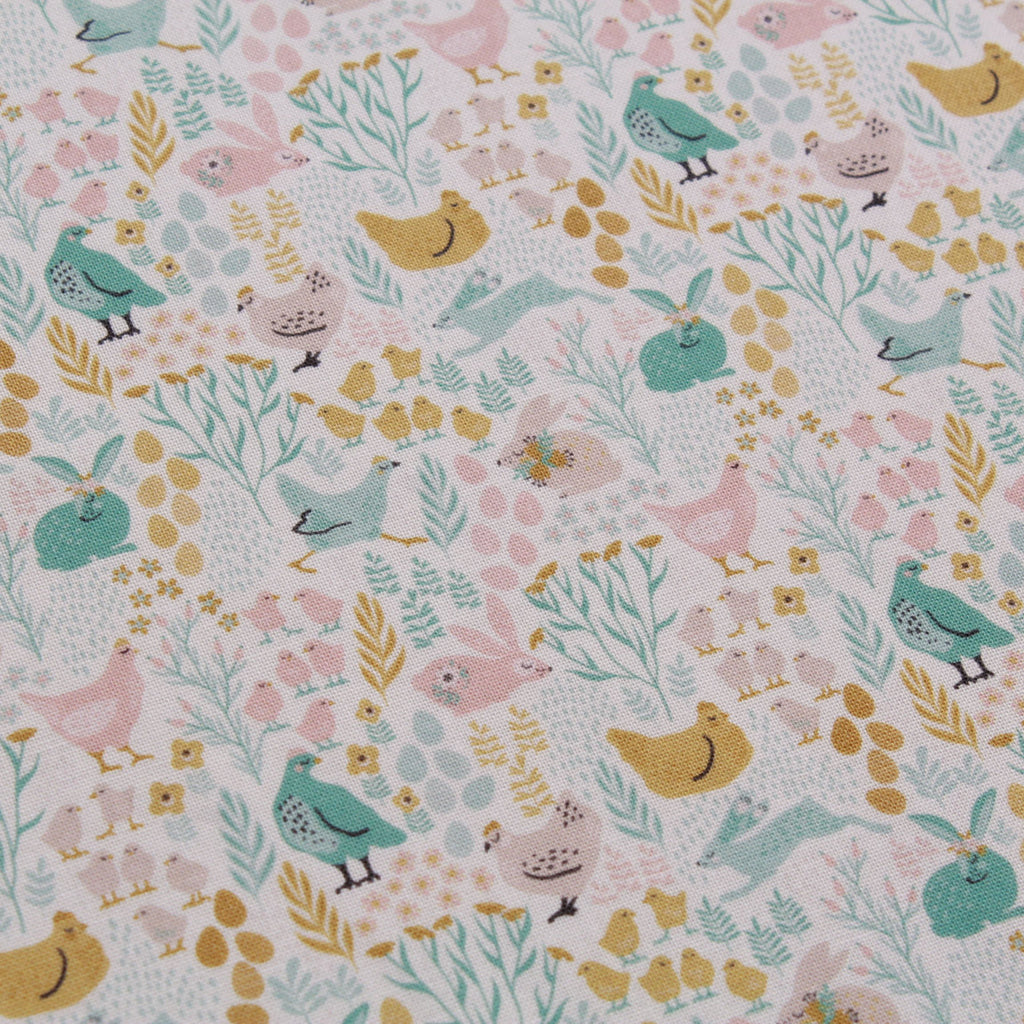 "Circle Of Life, Eggtastic Easter Quilting Cotton Collection, 100% Premium Quilting Cotton Fabric, 44"" Wide (111cm), 140GSM"