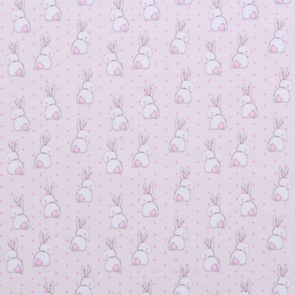 "Polka Dot Bunnies, Eggtastic Easter Quilting Cotton Collection, 100% Premium Quilting Cotton Fabric, 44"" Wide (111cm), 140GSM"