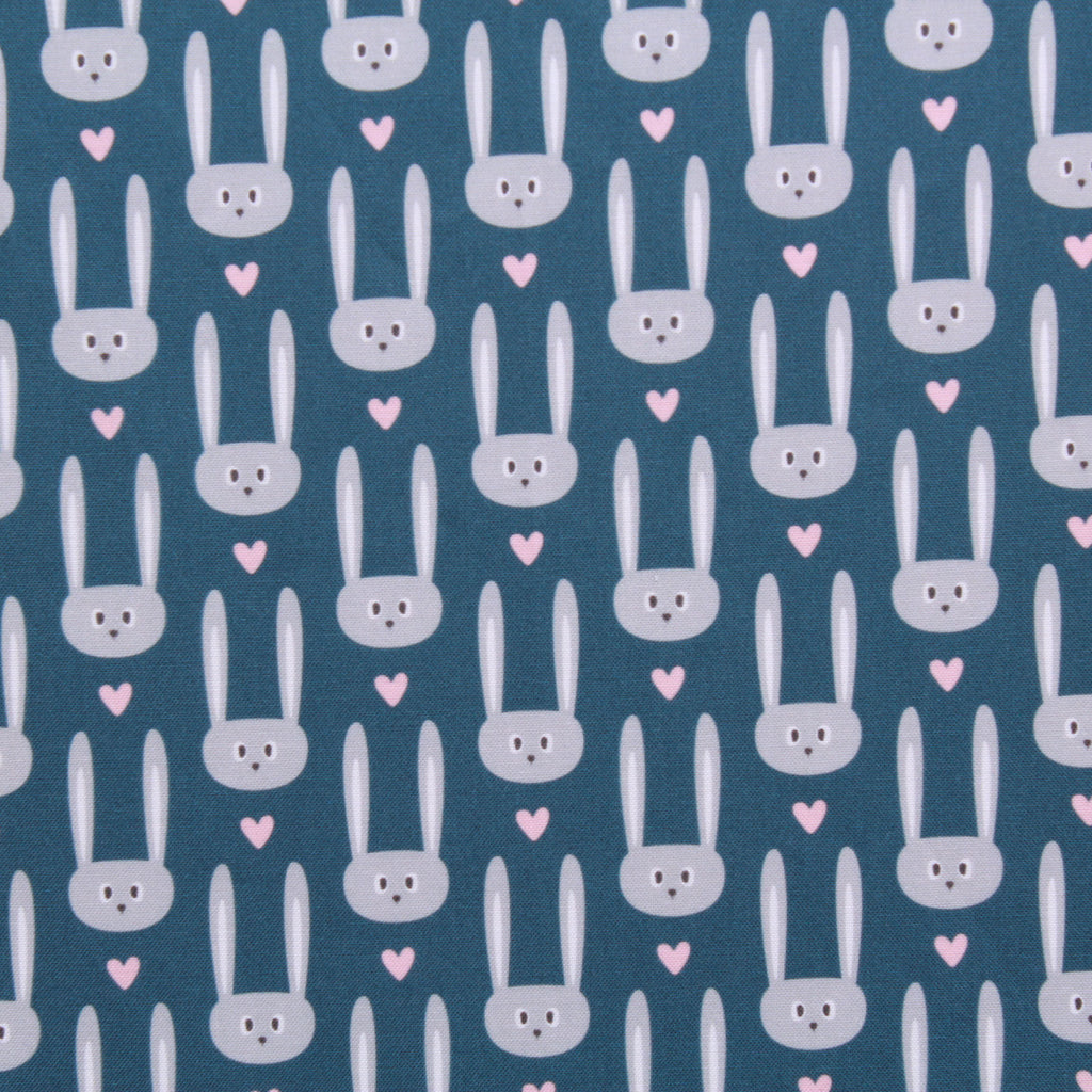 "Bunny Love, Eggtastic Easter Quilting Cotton Collection, 100% Premium Quilting Cotton Fabric, 44"" Wide (111cm), 140GSM"